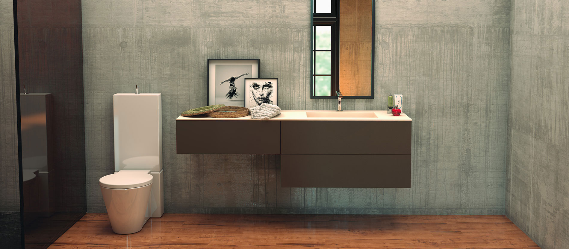 baño-serie-volga-laca-verde-oliva